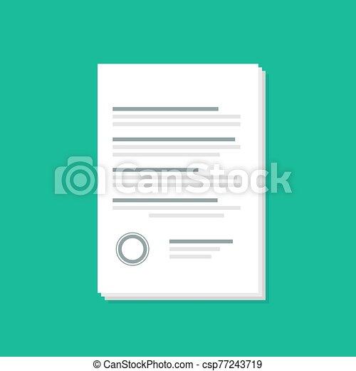 ikon, mód, okmányok, árnyék, lakás - csp77243719