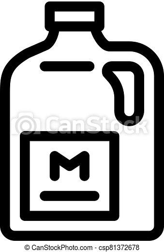 ikon, megfej, ábra, vektor, dobozba csomagol, áttekintés - csp81372678