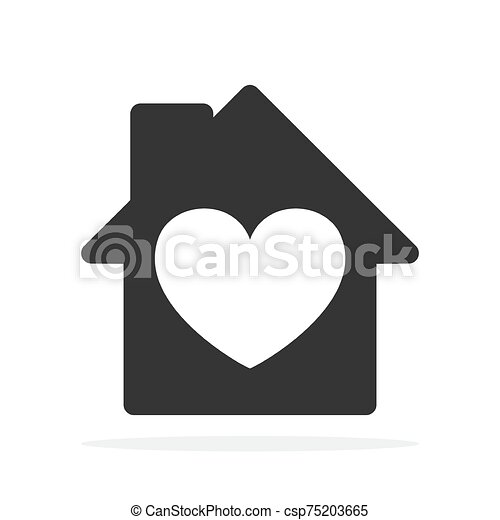 ikon, vector., -, épület - csp75203665