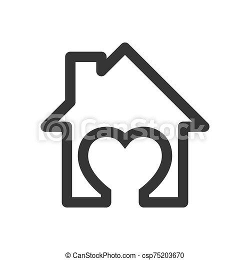 ikon, vector., -, épület - csp75203670