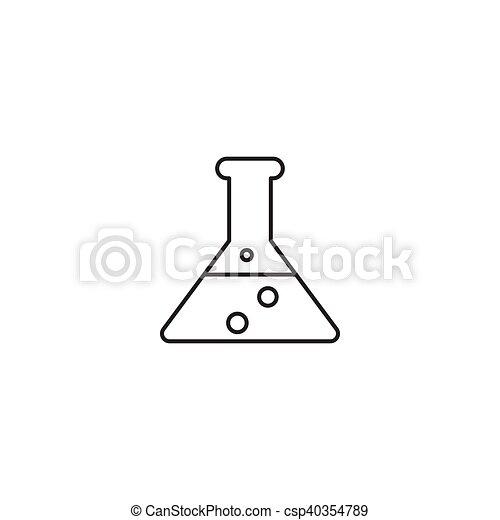 ikon, vektor, áttekintés, ábra, kémia - csp40354789