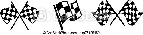 ikon, versenyzés, háttér, elszigetelt, white lobogó - csp75135450