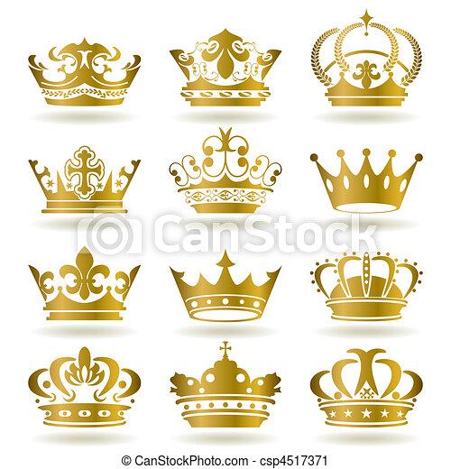 ikonok, állhatatos, gold lombkorona - csp4517371