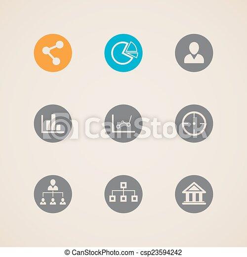 ikonok, állhatatos, háló - csp23594242
