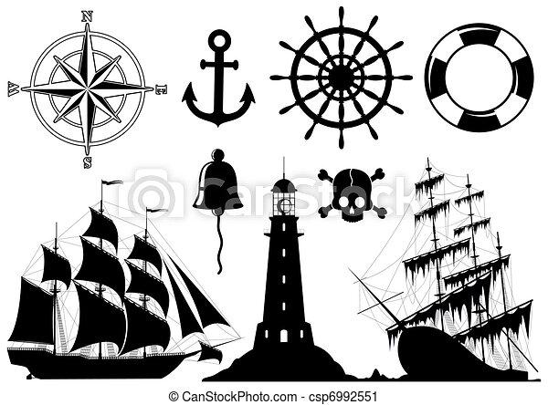 ikonok, állhatatos, tengeri - csp6992551
