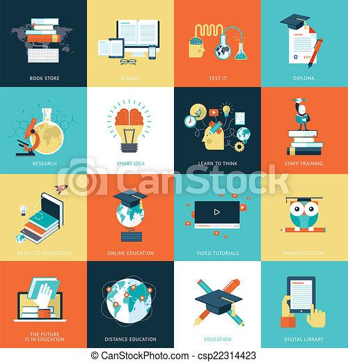 ikonok, lakás, oktatás, tervezés - csp22314423