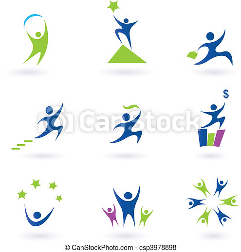 ikonok, siker, társadalmi, ügy - csp3978898