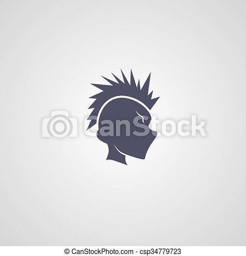 indián törzs, pasas, logotype - csp34779723