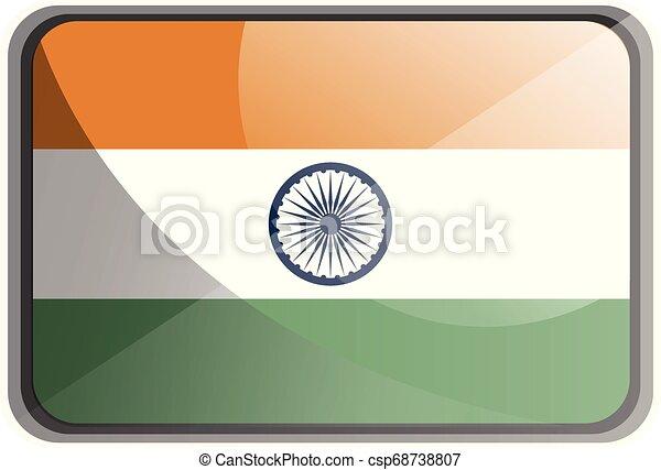 india, ábra, háttér., lobogó, vektor, fehér - csp68738807