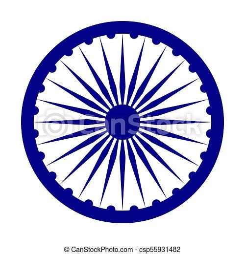 india, depicted, embléma, flag. - csp55931482