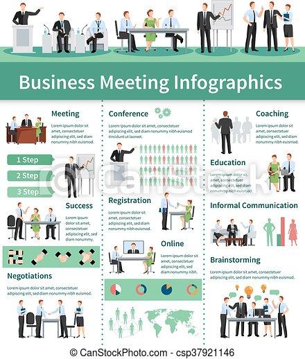 infographic, ügy, állhatatos, gyűlés - csp37921146