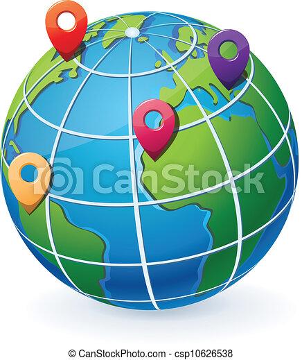 irányzók, földgolyó, elhelyezés - csp10626538