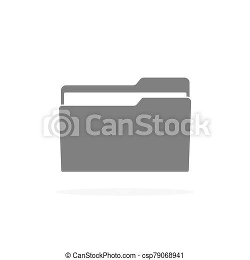 irattartó, mód, ikon, lakás, árnyék - csp79068941