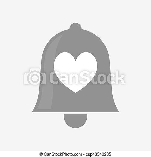játék, szív, kártya, piszkavas, elszigetelt, aláír, csengő - csp43540235