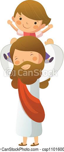 jézus, fiú, szállítás, krisztus, kellene - csp11016001