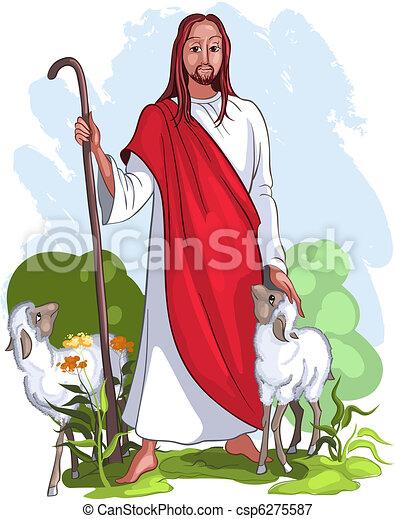 jézus, pásztor, jó - csp6275587