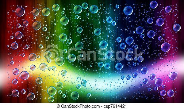 jókedvű, esőcseppek, ablak, befest - csp7614421