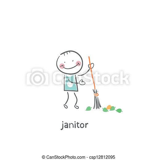 janitor. - csp12812095