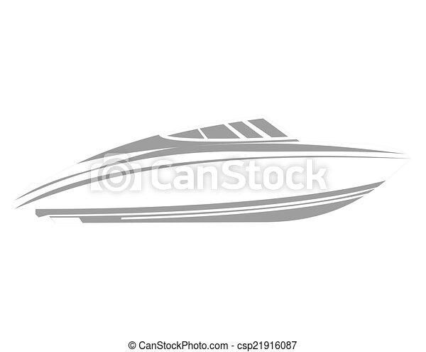 jel, csónakázik - csp21916087