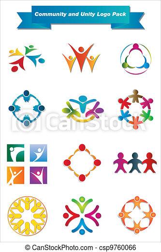 jel, egység, közösség, konzervál - csp9760066