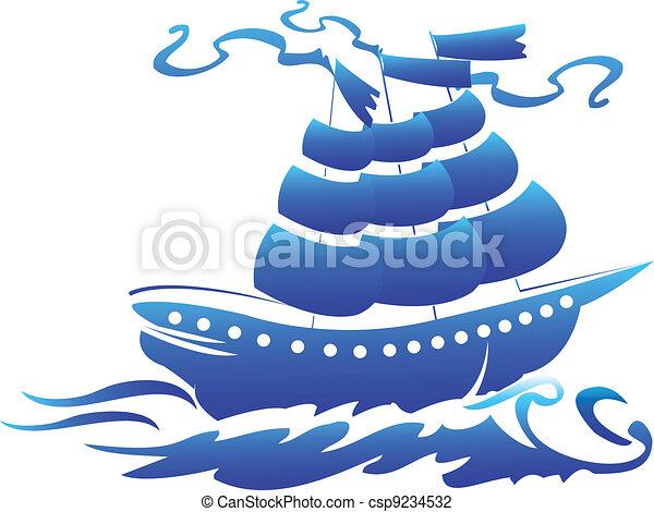 jel, jelkép, hajó, kalóz - csp9234532