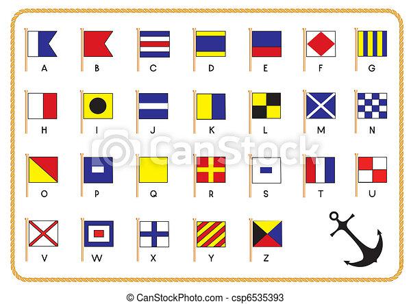 jelez, vektor, zászlók, vasmacska, tengeri - csp6535393