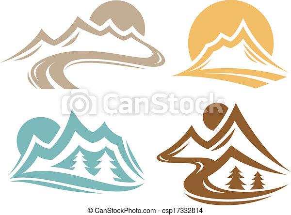 jelkép, hegylánc - csp17332814