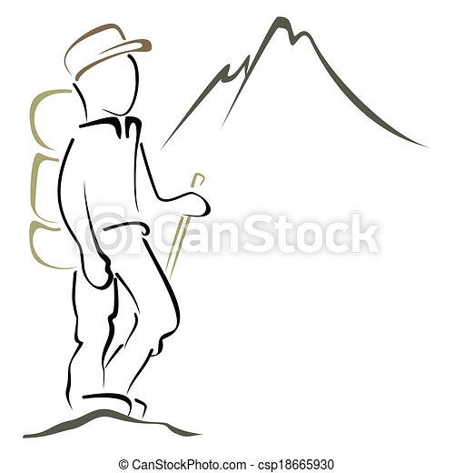 jelkép, hegymászás - csp18665930