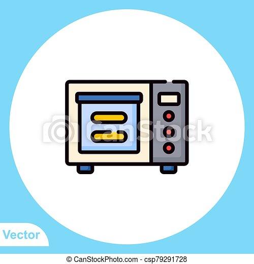 jelkép, ikon, aláír, mikrohullám, lakás, vektor - csp79291728