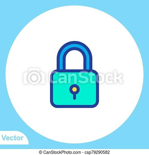 jelkép, ikon, lakat, aláír, lakás, vektor - csp79290582
