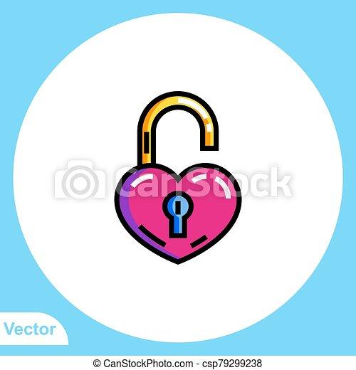 jelkép, ikon, lakat, aláír, lakás, vektor - csp79299238
