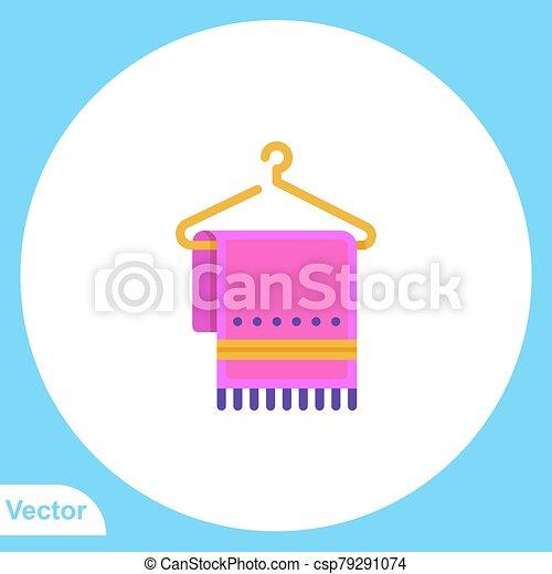 jelkép, ikon, törülköző, aláír, lakás, vektor - csp79291074