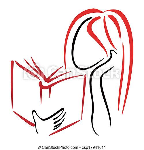 jelkép, könyvtár - csp17941611