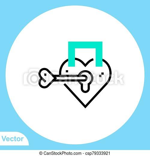 jelkép, lakat, ikon, vektor, lakás, aláír - csp79333921