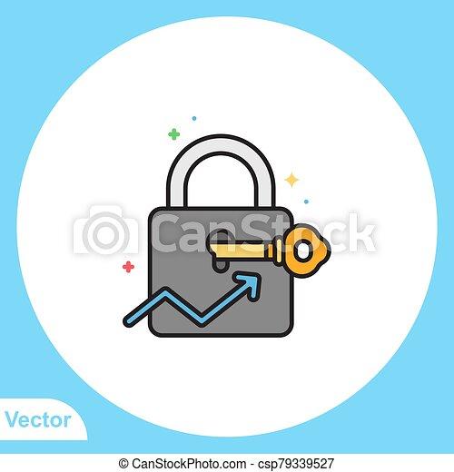 jelkép, lakat, ikon, vektor, lakás, aláír - csp79339527