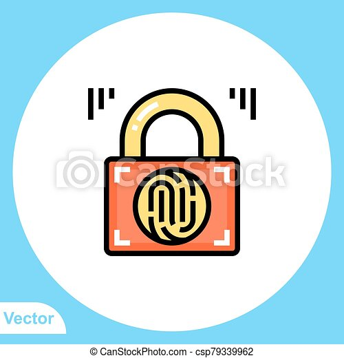 jelkép, lakat, ikon, vektor, lakás, aláír - csp79339962