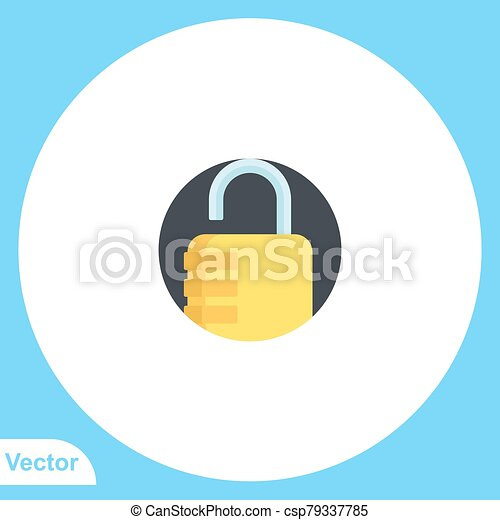 jelkép, lakat, ikon, vektor, lakás, aláír - csp79337785