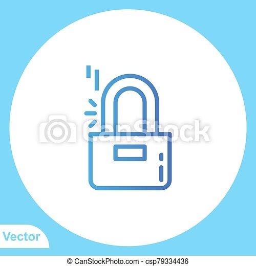 jelkép, lakat, ikon, vektor, lakás, aláír - csp79334436