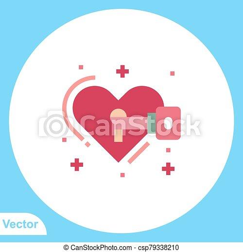 jelkép, lakat, ikon, vektor, lakás, aláír - csp79338210