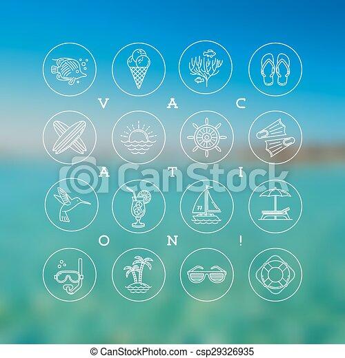 jelkép, nyár, utazás, cégtábla - csp29326935