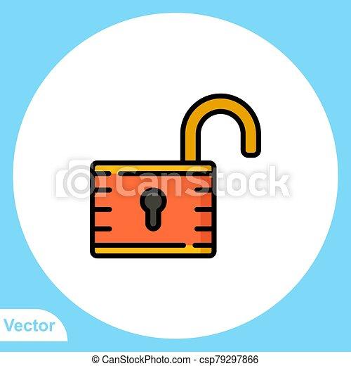 jelkép, vektor, ikon, aláír, lakat, lakás - csp79297866