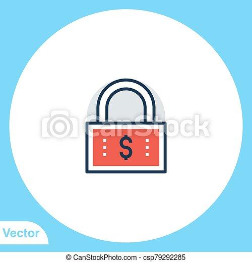 jelkép, vektor, ikon, aláír, lakat, lakás - csp79292285