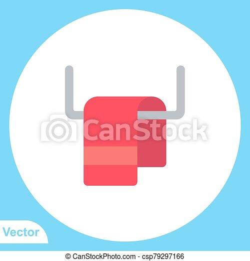 jelkép, vektor, ikon, aláír, törülköző, lakás - csp79297166