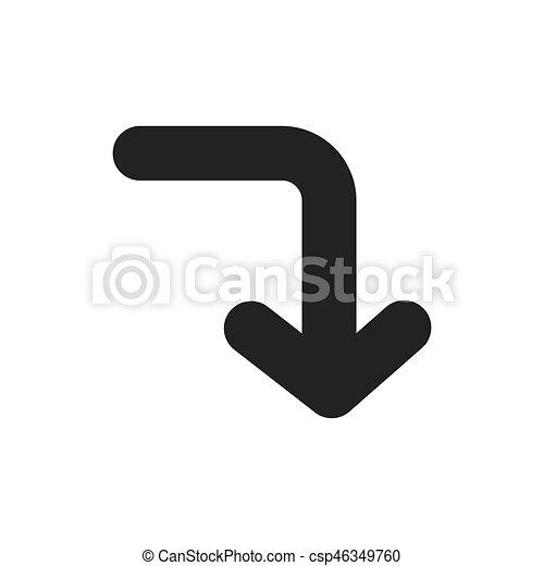 jelkép, vektor, tervezés, nyílvesszö icon - csp46349760