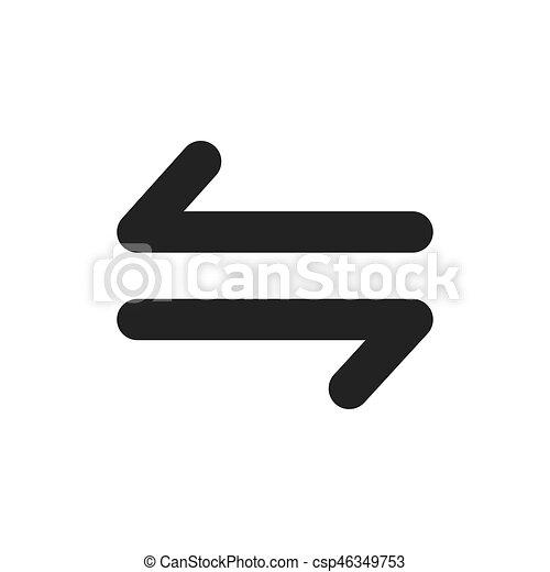 jelkép, vektor, tervezés, nyílvesszö icon - csp46349753