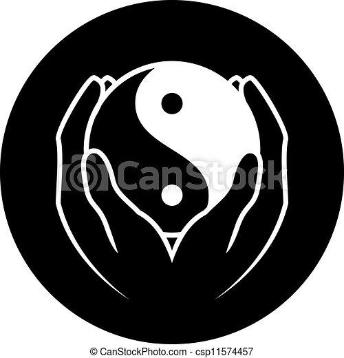 jelkép, yin yang - csp11574457