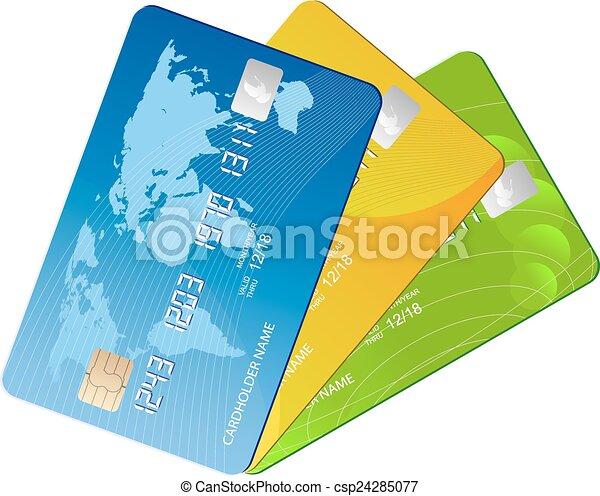kártya, hitel - csp24285077