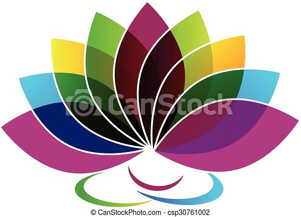 kártya, jel, személyazonosság, virág, lótusz - csp30761002