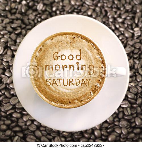 kávécserje, jó reggelt, csípős, háttér, szombat - csp22426237