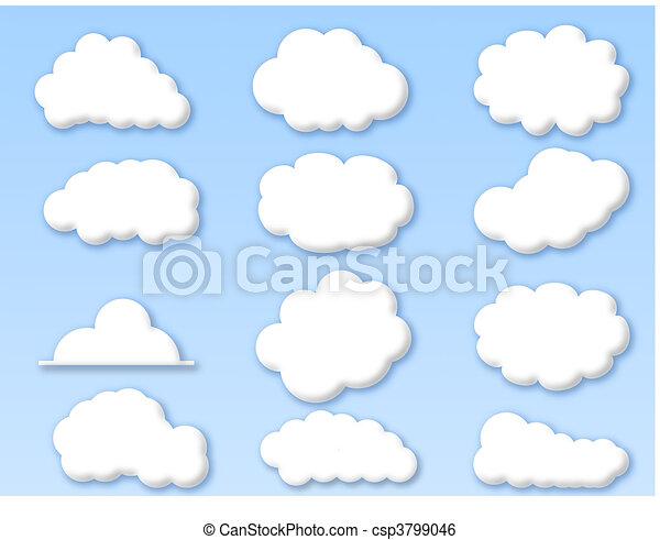 kék ég, elhomályosul, felhős - csp3799046
